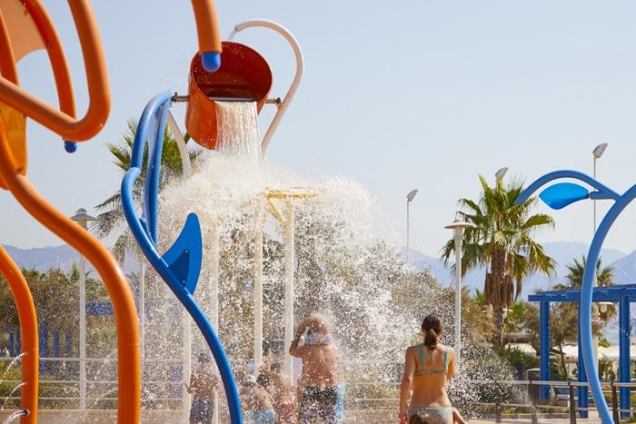 parque de agua VORTEX en el Paseo Marítimo Antonio Banderas de Málaga