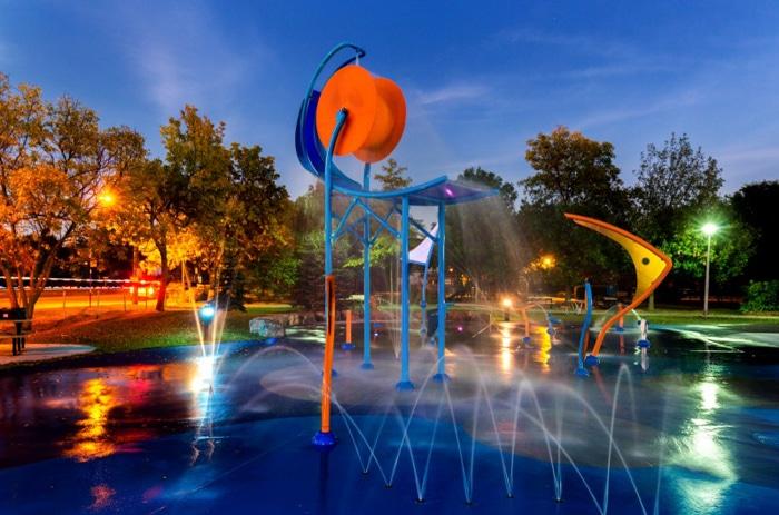 Superwave y Splashpad de VORTEX en parque municipal de Montreal
