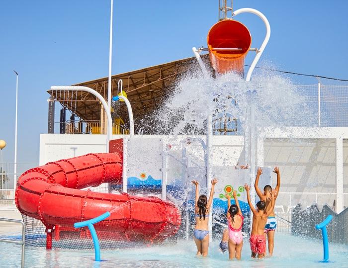 Transformación de la piscina municipal de Paterna en un parque acuático con VORTEX