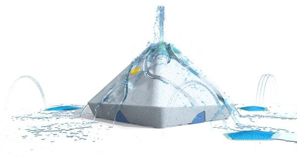 Fuente de Alto 3 de la colección Water Journey de VORTEX