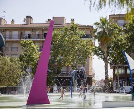 1.500 personas en un parque urbano de agua Splashpad