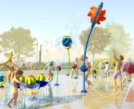 : la magia del agua en los parques infantiles