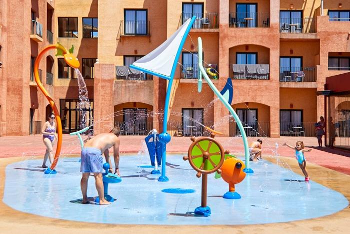 Splashpad de VORTEX en el Hotel Barceló Punta Umbria Beach Resort