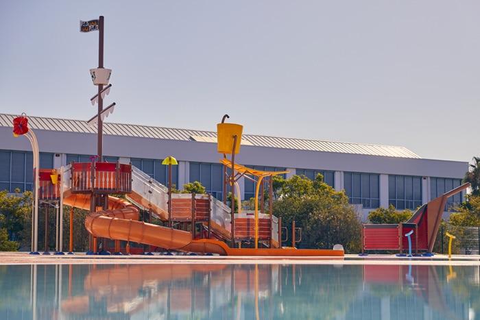Splashpad marino de VORTEX para parque de agua sin profundidad