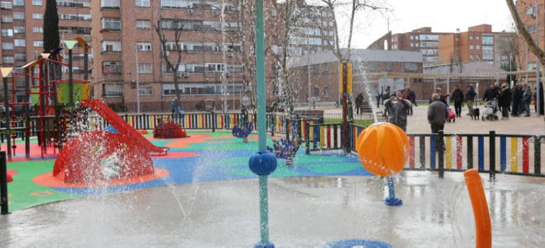 Nuevo Splashpad urbano de VORTEX