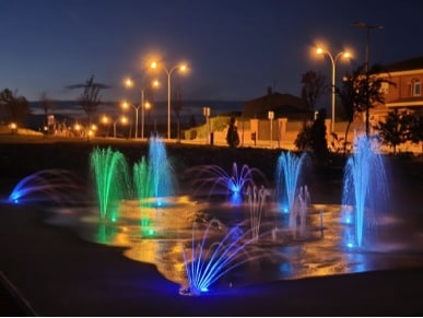 Splashpad con luces LED integradas en Colmenar Viejo